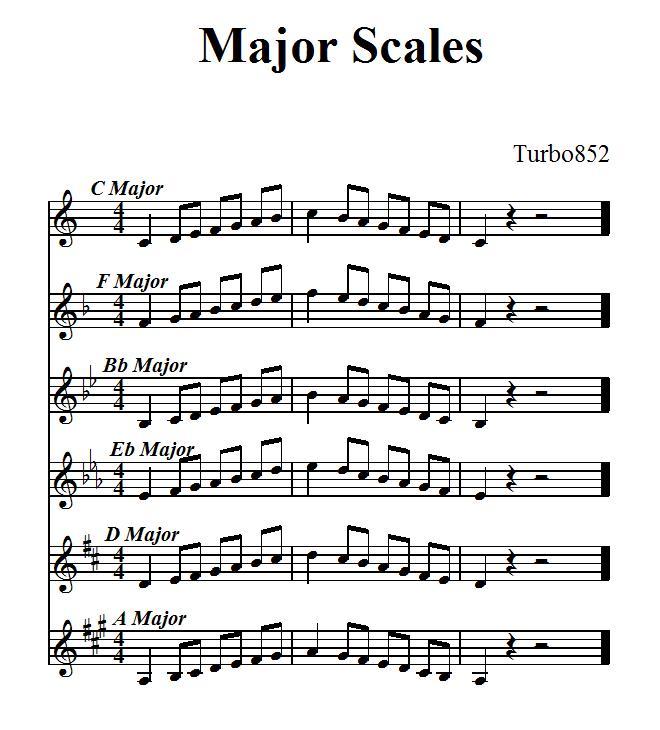 Warm up sheet music?